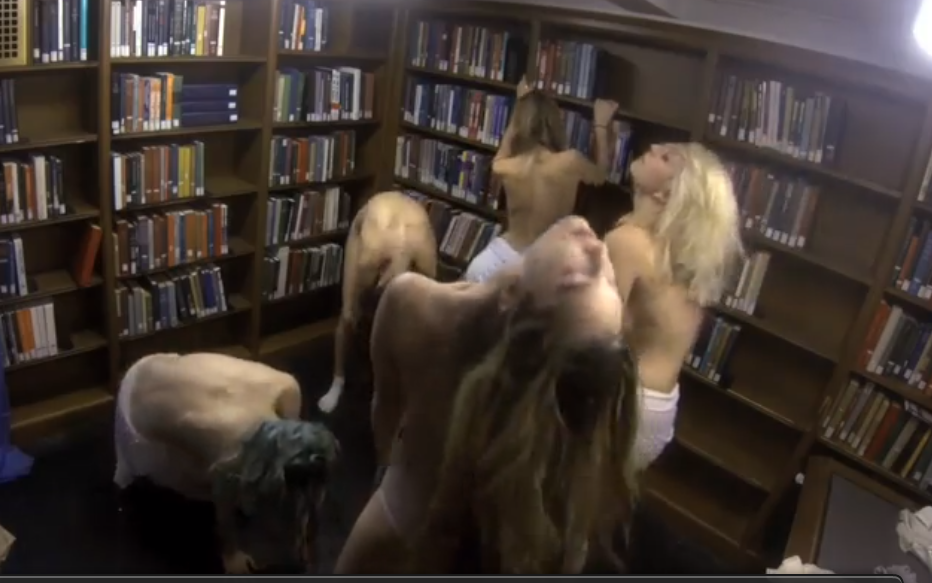 A bunch of college girls got naked in the library for an art project. You just don't get it, man.