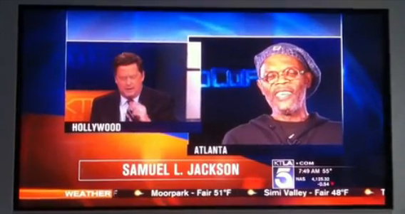 """Samuel L. Jackson flips out at news anchor for thinking he's Laurence Fishburne. """"We don't all look alike!"""""""