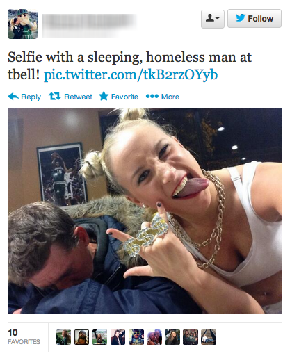 Selfies with homeless people are the new worst thing.