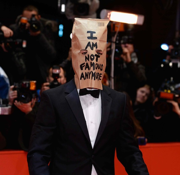 10 far more entertaining things Shia LaBeouf could have written on his paper bag mask.