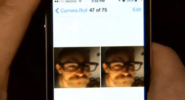 A woman realized her house was broken into when she discovered the burglar had taken a selfie with her iPhone.
