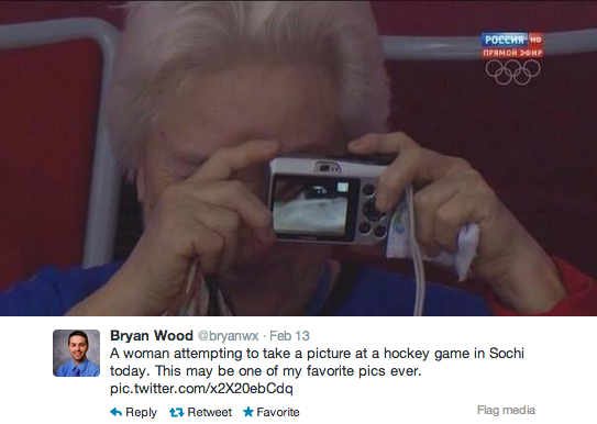 The single greatest photo of the Olympic Games is an elderly woman accidentally taking a selfie of her eyeball.