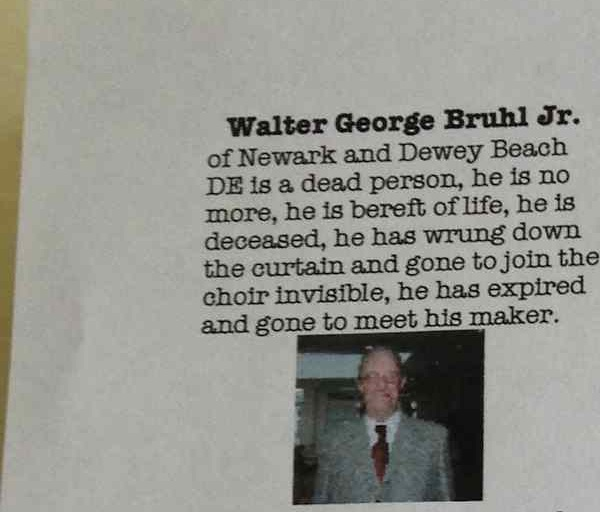 This grandfather wrote himself a wonderful obituary.