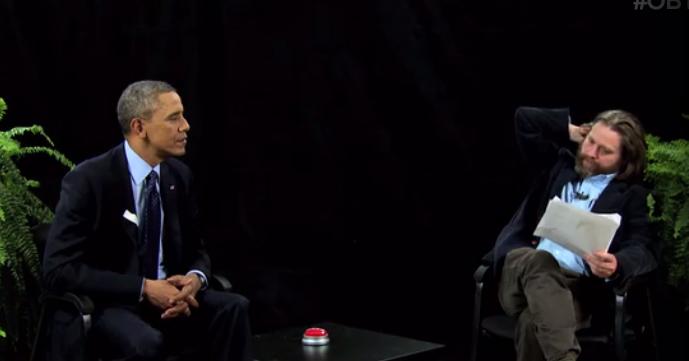 Zach Galifianakis interviews President Barack Obama on 'Between Two Ferns.'