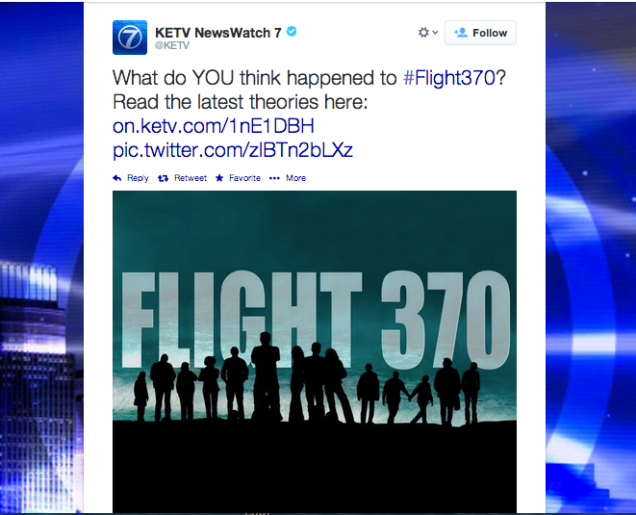 News station decides combining 'Lost' and Flight 370 was a good idea.