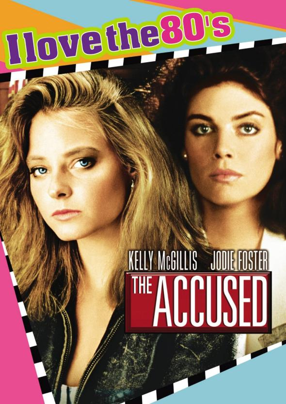 Who thought this rad '80s-style DVD cover for 'The Accused' was even remotely appropriate?