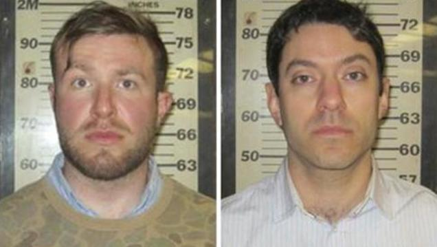 Two CNN producers were arrested trying to sneak into the World Trade Center.