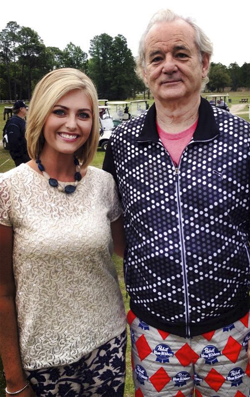 Bill Murray's PBR pants win the Caddyshack Charity Golf Tournament.