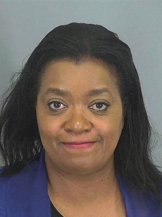 A woman was arrested after her April Fool's Day prank about a school shooting fell flat.