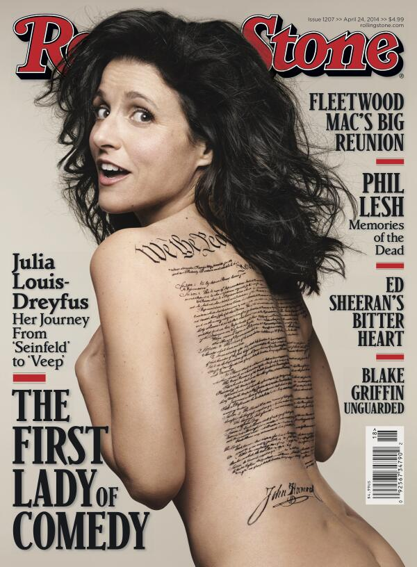Julia Louis-Dreyfus's naked Rolling Stone cover gets an F in U.S. History.