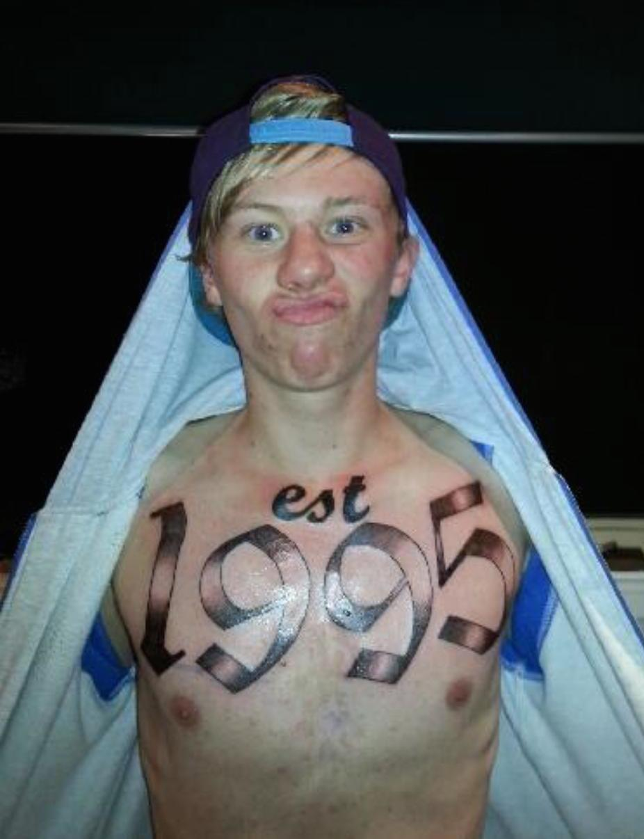 An idiot turned 18 last year and got this tattoo.