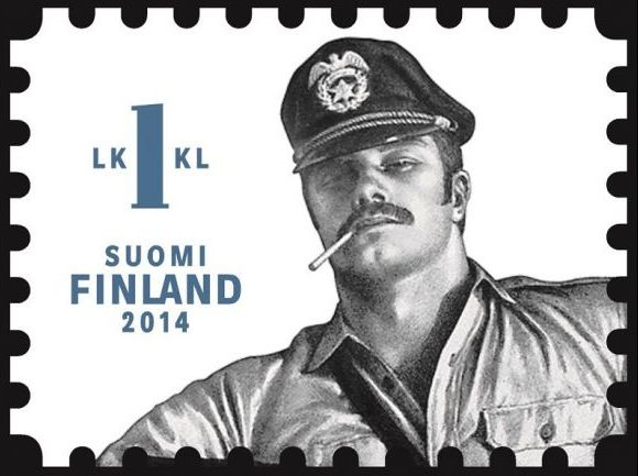 Finland's new postage stamps feature homoerotic bondage art to be licked and bound to freshly stuffed envelopes.
