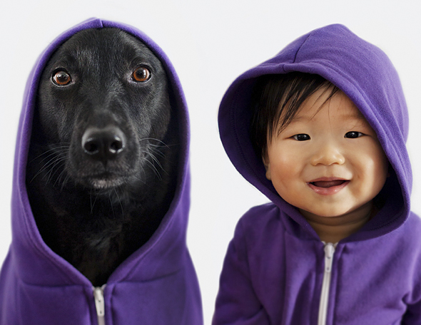 Who wore it better: Dog or Baby?