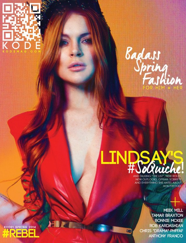Lindsay Lohan got drunk and named names during a crazy magazine interview.