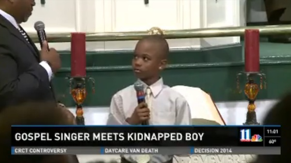 A kidnapped 9-year-old sang a gospel song for hours until his kidnapper couldn't take it anymore and let him go.
