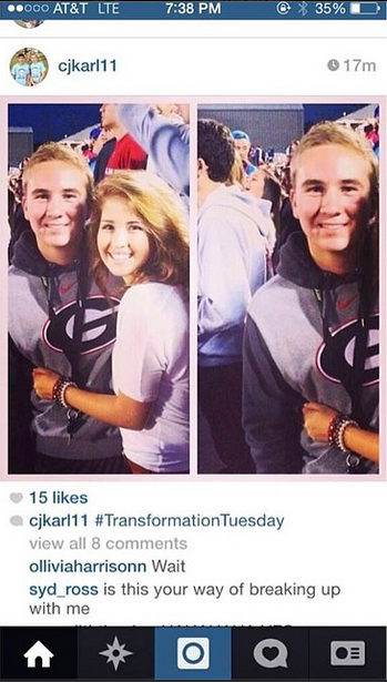 The worst kid in the world just broke up with his girlfriend on Instagram.
