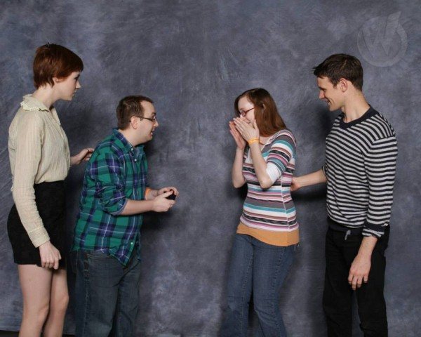 """A guy proposed to his girlfriend during """"Doctor Who"""" photo op pics at ComicCon and it was the nerdiest, most wonderful thing ever."""