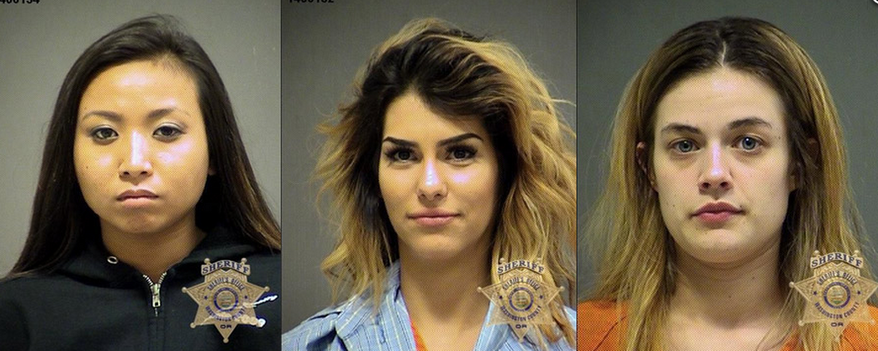 3 women arrested for twerking outside city hall and charged with drug possession.