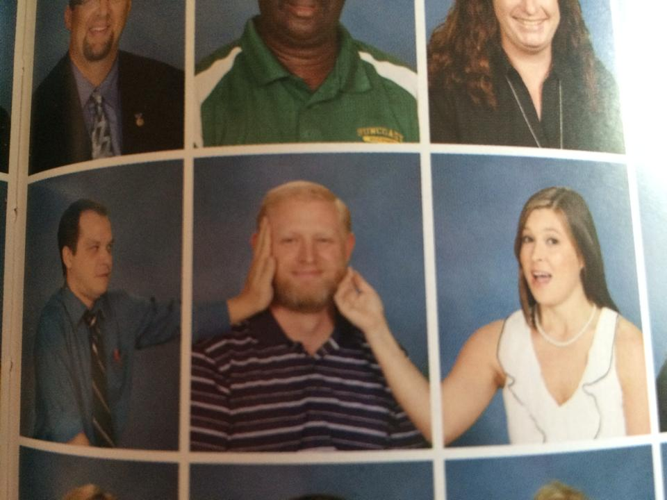 High school teachers find way to be extra friendly in yearbook.