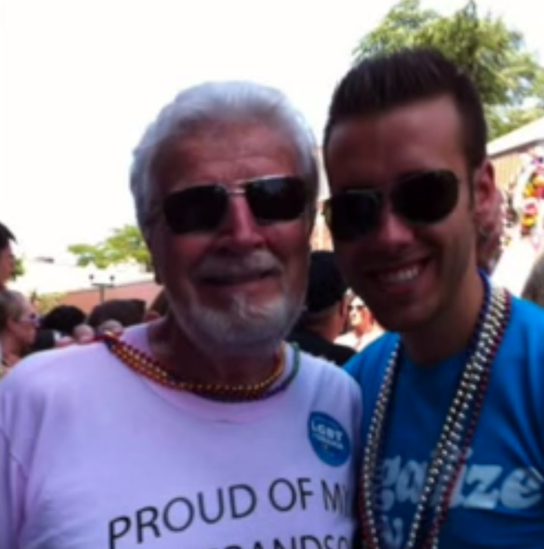 This grandfather got a tattoo as a show of support for his gay grandson.