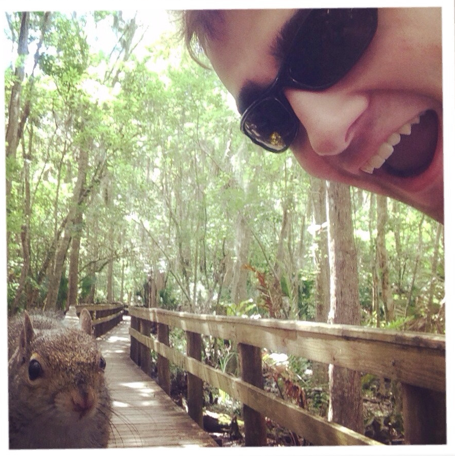 A guy was attacked by a squirrel while attempting to take a selfie. He did get the picture.
