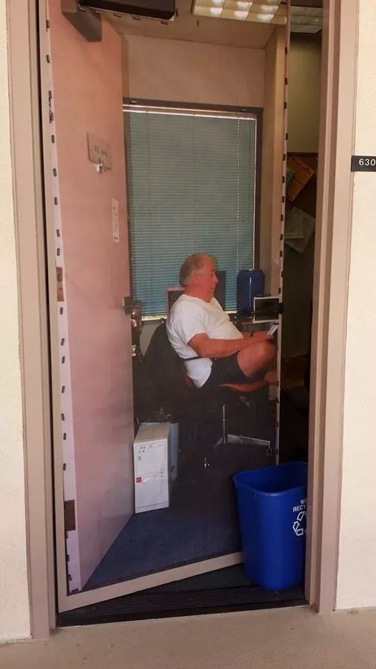 A college professor hated coming into his office. He came up with a brilliant solution.
