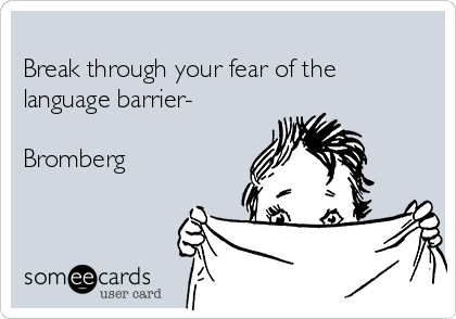 Break through your fear of the   language barrier-   Bromberg