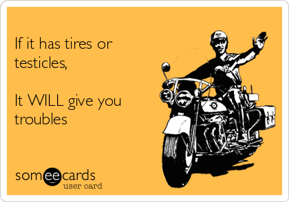If it has tires or testicles,   It WILL give you troubles