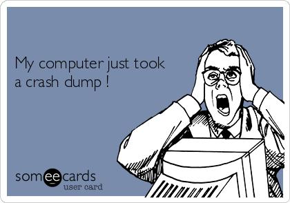 My computer just took a crash dump !