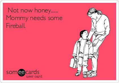 Not now honey...... Mommy needs some Fireball.