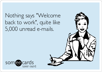 Welcome back ecards