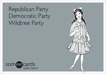 □ Republican Party □ Democratic Party ■ Wildtree Party