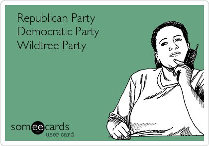 □ Republican Party □ Democratic Party ■ Wildtree Party