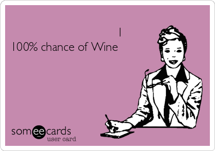 Weekend Forcast....                                 1 100% chance of Wine