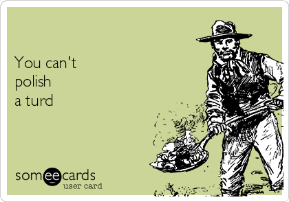 You Can T Polish A Turd Some Inspiration Ecard
