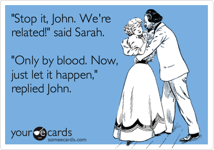 """Stop it, John. We're