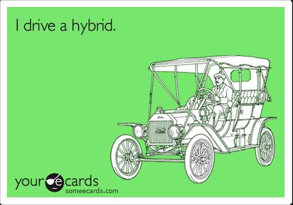 I drive a hybrid.