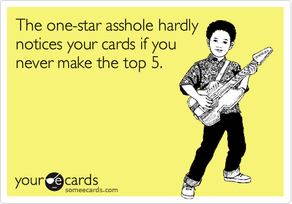 The one-star asshole hardly 