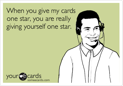 When you give my cards