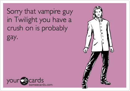 Sorry that vampire guy