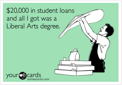 $20,000 in student loans