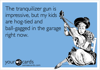 The tranquilizer gun is