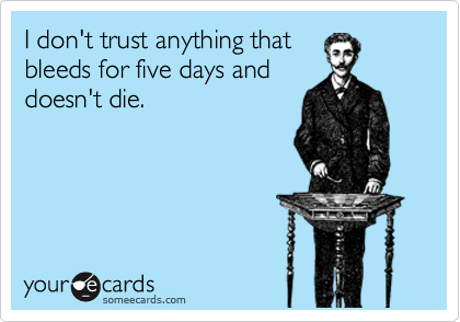 I don't trust anything that
