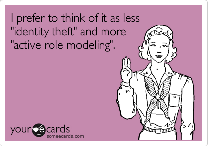 I prefer to think of it as less