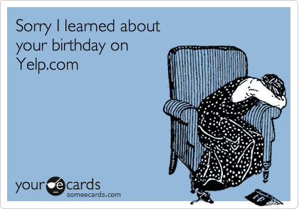 Sorry I learned about 