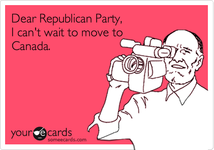 Dear Republican Party,  