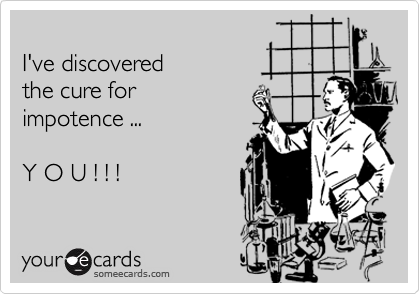 I've discovered 
