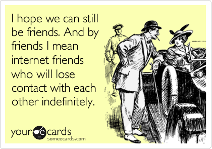 I hope we can still