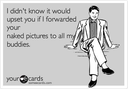 I didn't know it would