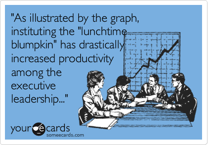 """As illustrated by the graph, instituting the ""lunchtime 